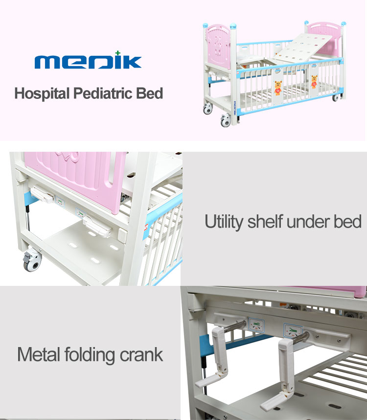 YA-PM2-3 Manual Cartoon Hospital Pediatric Bed