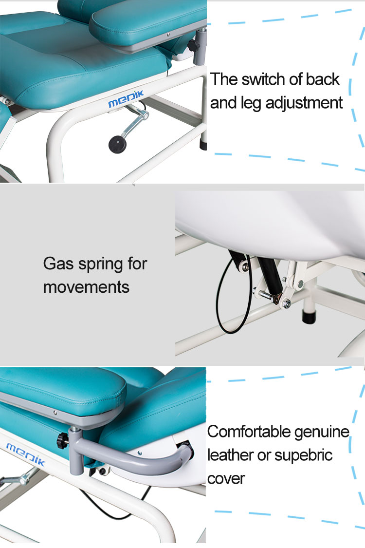 YA-DS-M05 Manual Dialysis Recliner Chair Two Function